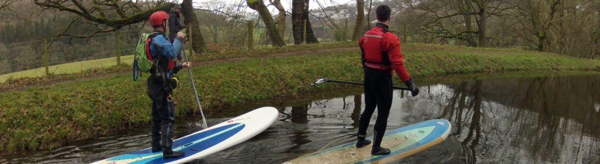 SUP on the Monmouthshire and Brecon canal