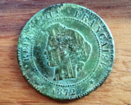 French 5 centimes from 1872